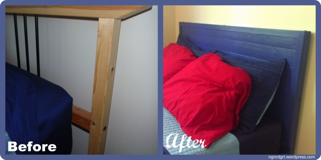 DIY Ikea Hack Rykene Headboard: Before and After