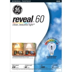 GE Reveal 60 Watt Bulb 4-pk.
